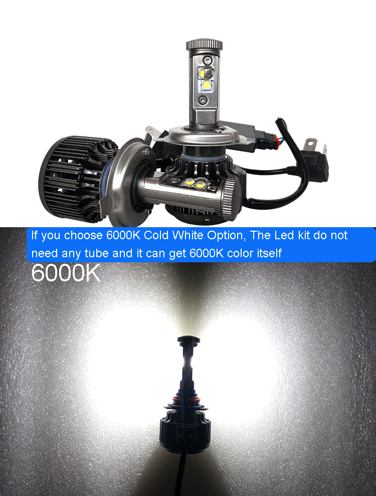New H4 CREE LED Motorcycle Headlight Bulb 4000LM 40W HiLo 20W Low Beam Conversion Kit 3000K 4300K 6000K DC 12V P43T Headlamp (21)