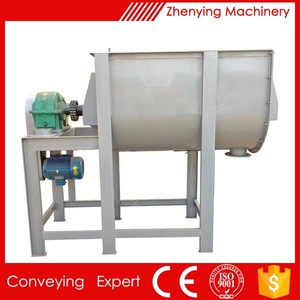 Horizontal biaxial mixer used to dry powder