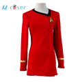 Star Trek Duty Uniform TOS Red Dress Party Halloween Cosplay Costumes For Women Badge Hot Sale