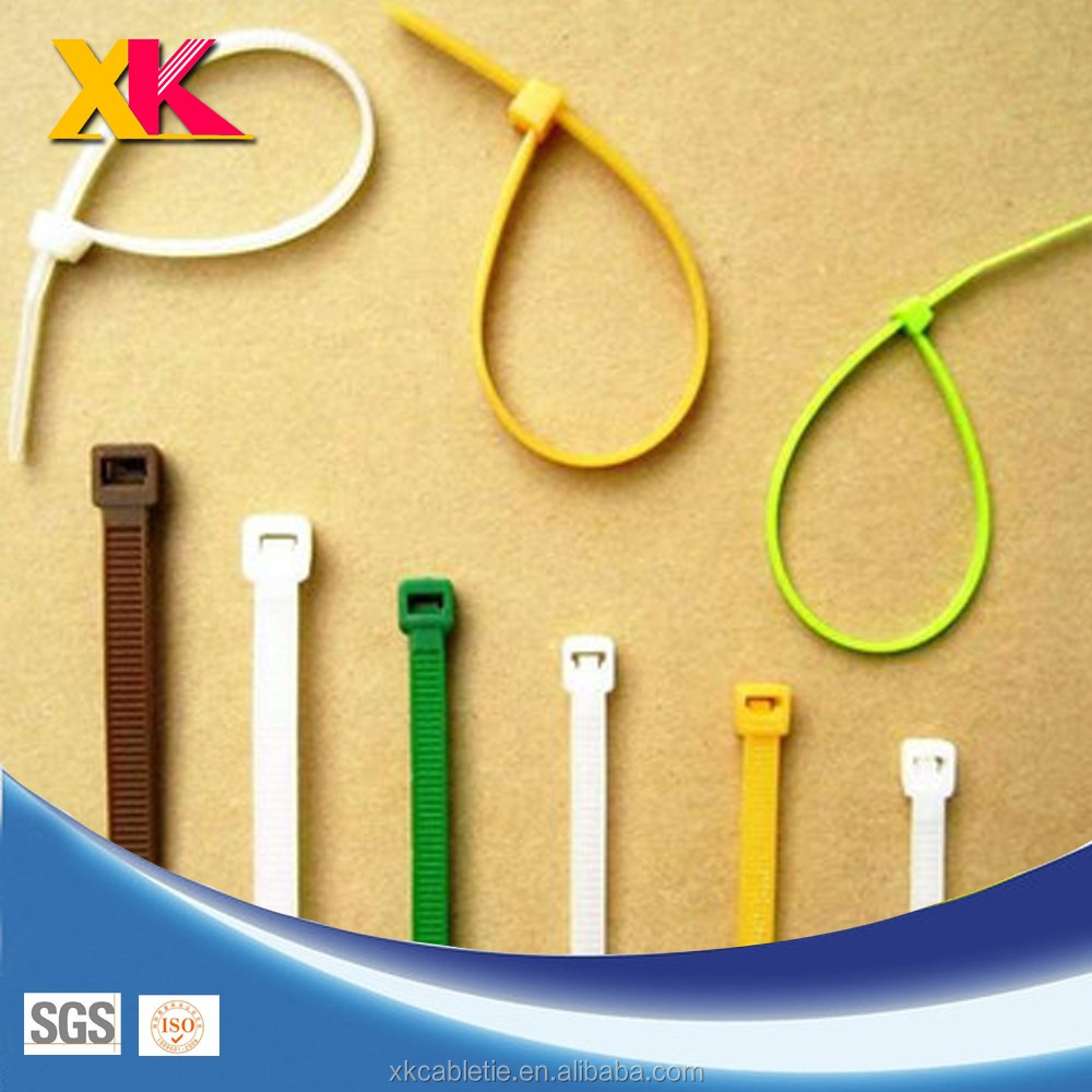 "8"" 4"" 6"" Colored Nylon Cable Ties"