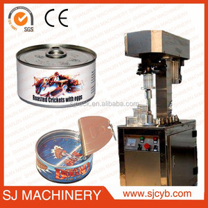 vacuum tin can sealing metal can sealing equipment/tin can sealer machine