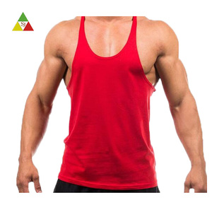 2018 custom fitness tank top men gym sports stringer