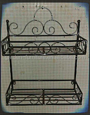 Home Bathroom Decor Accessory Storage 2 Tier Wall Mount Hotel Towel Racks,wrought  Iron Towel