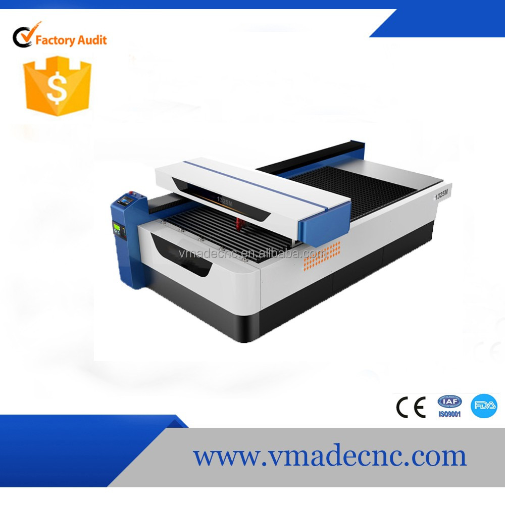 ball screw transmission CO2 mixed laser cutting machine with yongli 260W