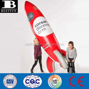 China Custom Made Big Inflatable Rocket For Sale Jumbo Plastic ...