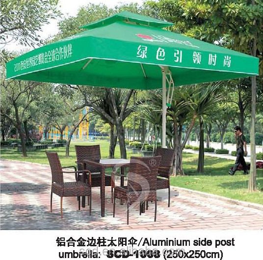 Rattan chairs Aluminium side post umbrella Outdoor furniture for sale