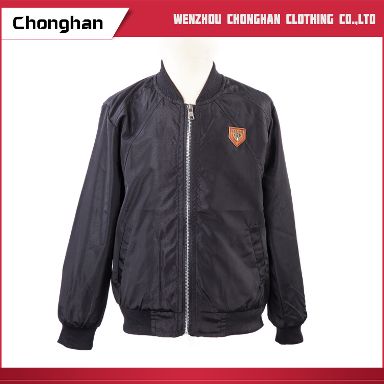Chonghan Latest Design Wholesale Windproof Black Polyester Jackets For Men