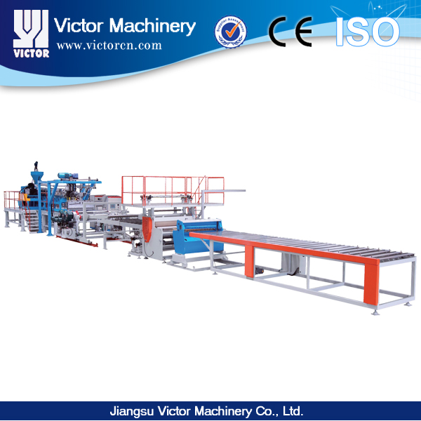 No crystallization PET sheet production line / Three layers sheet extrusion production machine