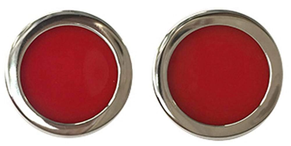 Tyler and Mens Two Tone Bold Cufflinks - Red/Gold