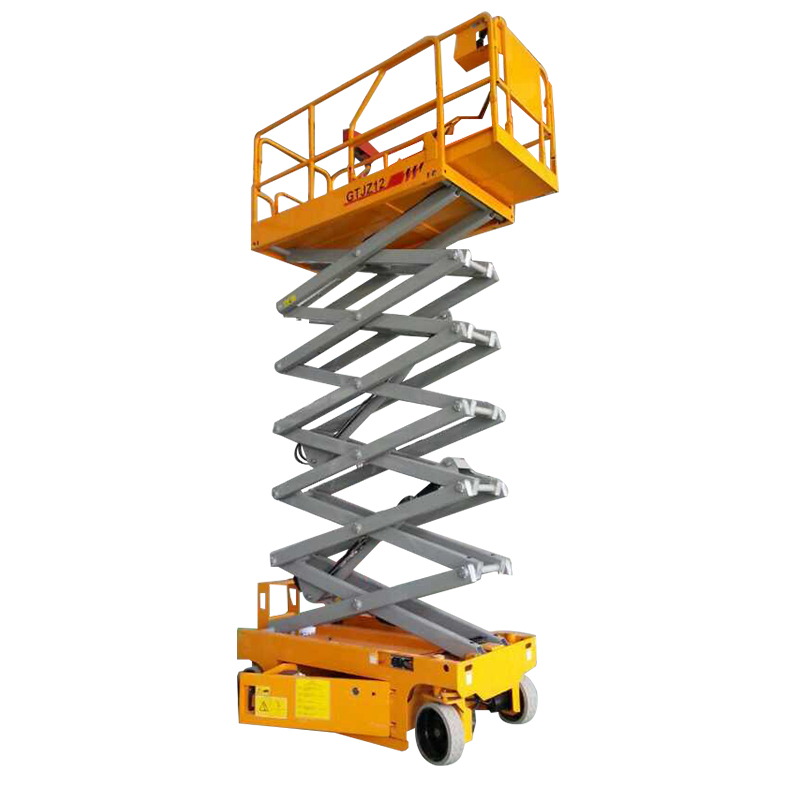 6-14 m movable self propelled scissor lift ลื่นแพลตฟอร์ม