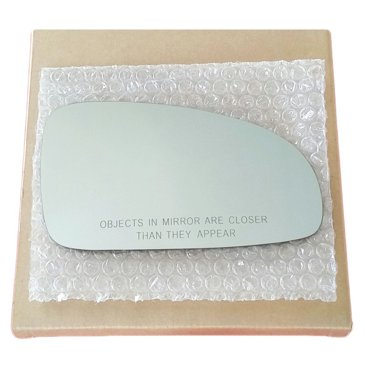 Mirror Glass and ADHESIVE | 2004 - 2006 Chevy Aveo Sedan or 2004 - 2008 Aveo Hatchback Passenger Right Side Replacement Glass