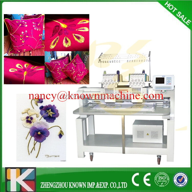 Computerized Embrodery machine for sale Single Head 12 Colors Sequin Computer Embroidery machine