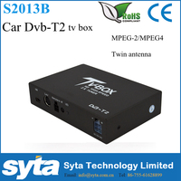 SYTA Russia DVB T2 Car Tv Box Digital Tv Box for Car Stereo Radio Double Tuner MPEG-4/MPEG-2 S2011B