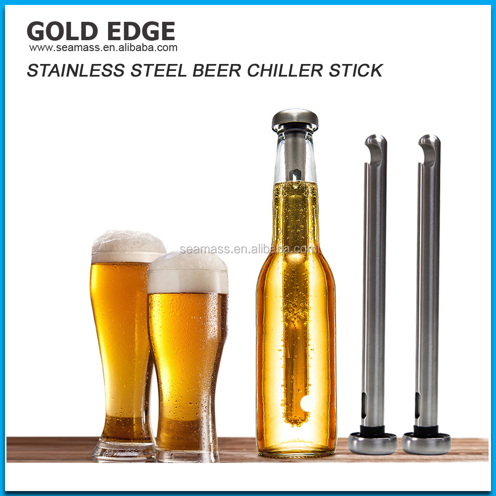 2017 Promotional 304 Wine Beer Chiller Stick Stainless Steel Cooling ice cube bulk cheap wine stick