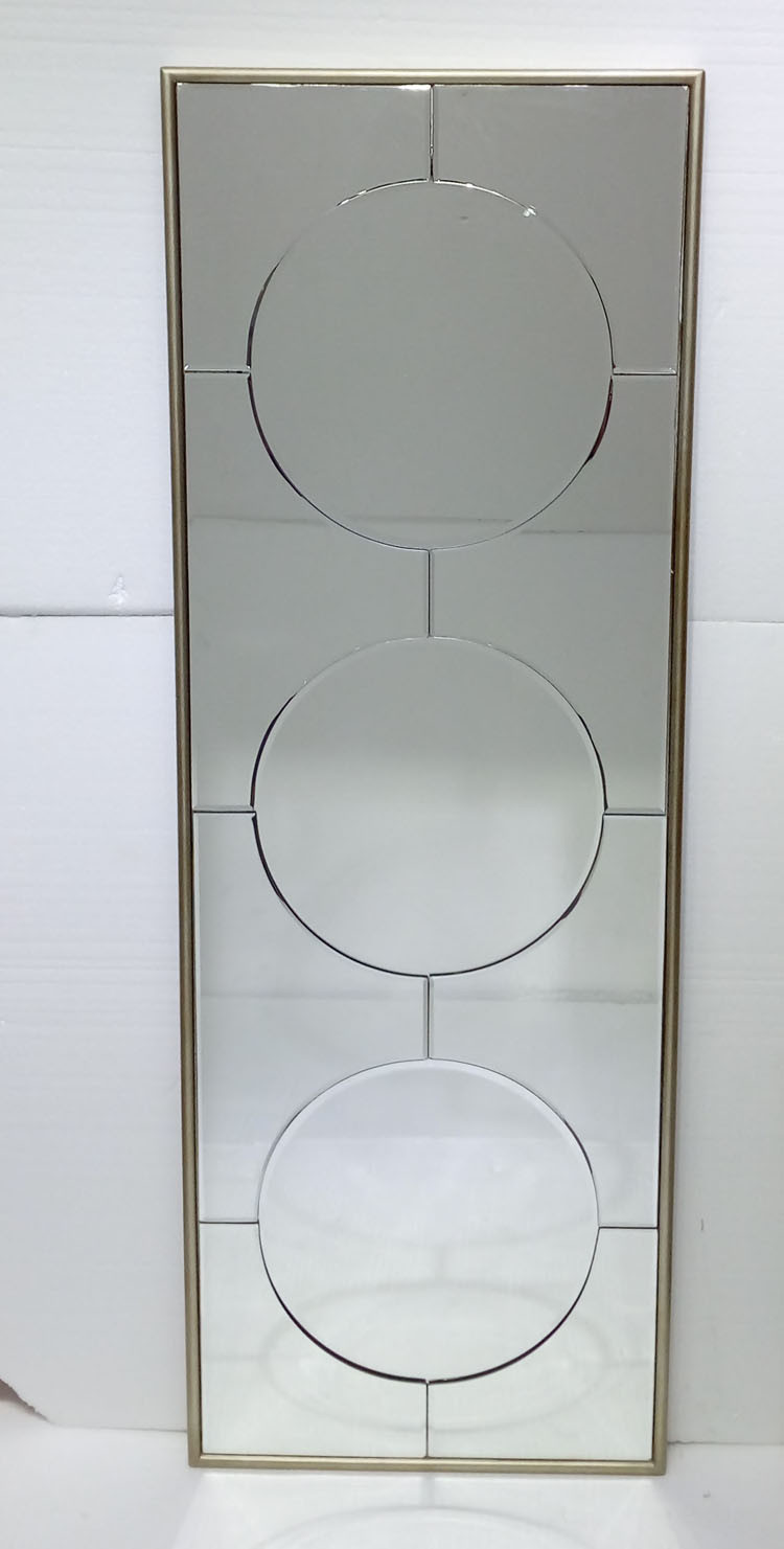 Large mirror tiles for walls