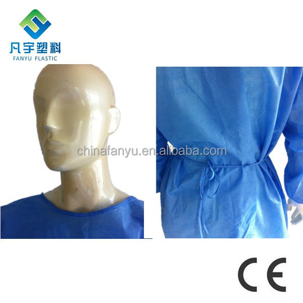 how to wear surgical gown