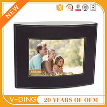 vding Chinese manufacturer newest leather design frame digital photo frame