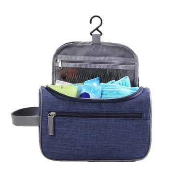 waterproof Hanging Travel Toiletries nylon Cosmetic Bag make up bag with Handle and Hook Travel Organizer