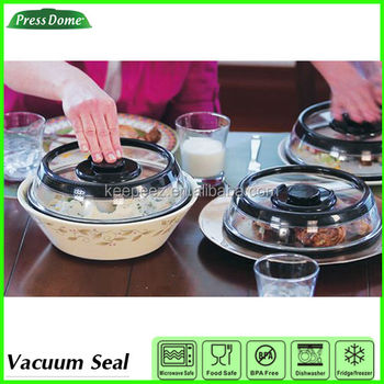 Press Dome Vacuum Sealed Push Button Storage Container Cover Buy