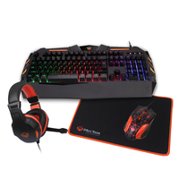 Hot sale MeeTion Good Quality ergonomic Colorful LED Backlit Optical Gaming Keyboard and Mouse Headphone combo