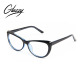 High Quality Fashion Black Cat Eye Eyeglasses With Metal Hinges CP optical frames