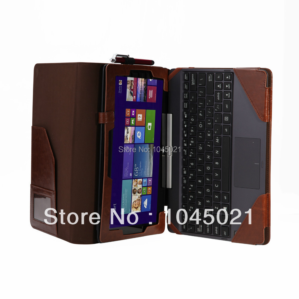 For Asus Transformer Book T100TA T100 Leather Keyboard Portfolio Stand Case Cover | Pickmygadget.eu