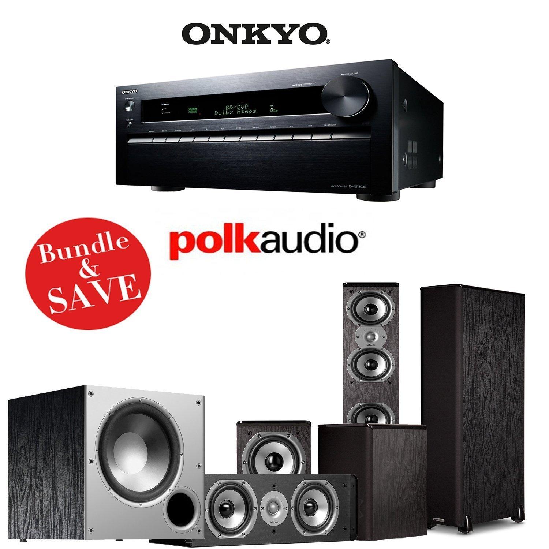 Onkyo TX-NR3030 11.2-Ch Networking A/V Receiver + (1) Pair of Polk TSi 400 Speakers + (1) Pair of Polk TSi 100 Speakers + (1) Polk CS10 Center Speaker + (1) Polk Audio PSW108 Subwoofer - 5.1 Bundle
