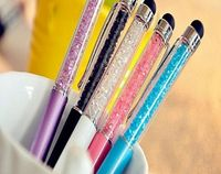 Bling Metal diamond slim crystal ballpoint ink touch screen pens for Iphone,Ipad,and all other touch screen device