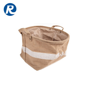Ruiding Hot Sale Reusable Produce Customized Cheap Price Jute Storage Bag With Handle