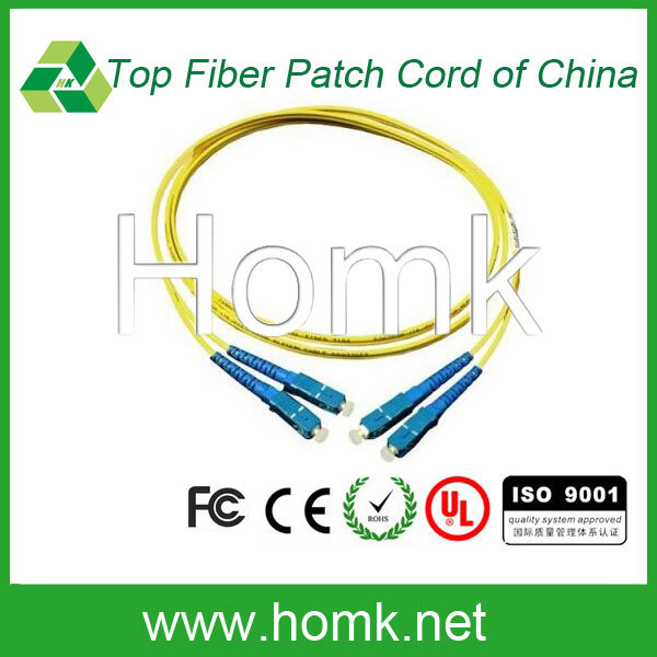 SC G657A1 SM DX 2mm fiber patch cord length 3m
