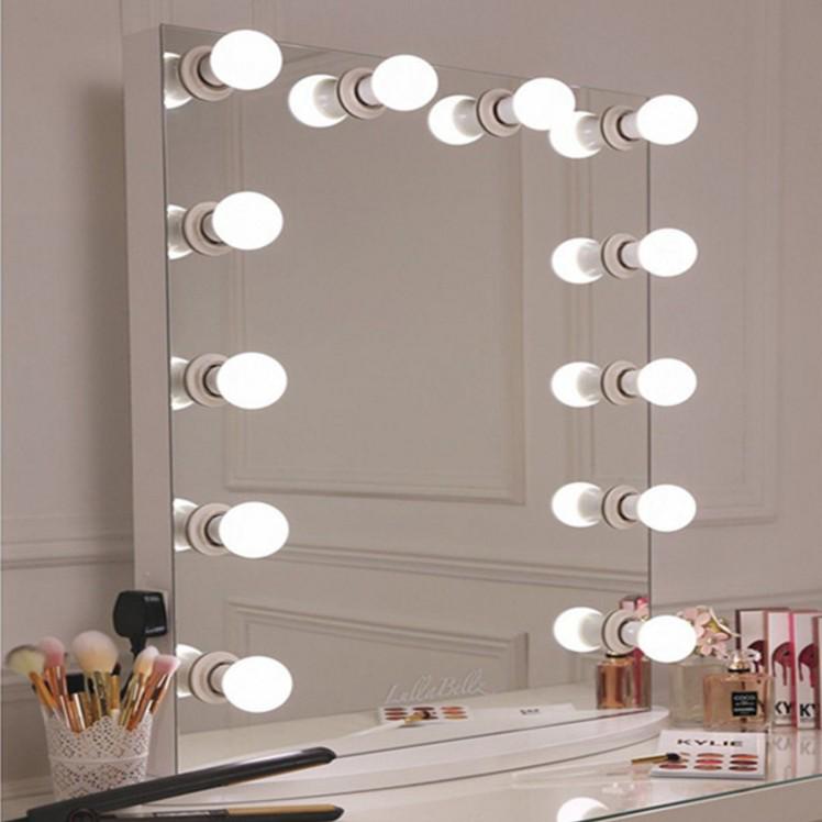 100*80CM LED Verlichte Salon Dressing Make-upspiegel Hollywood Make-Up Spiegel voor Schoonheid Cosmetische