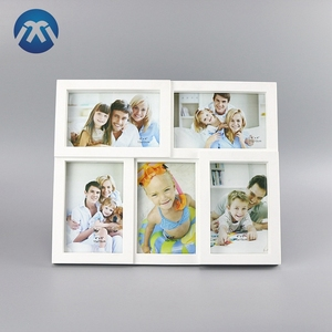 Cheap traditional 5 combination laminated lovely kids family picture photo frame