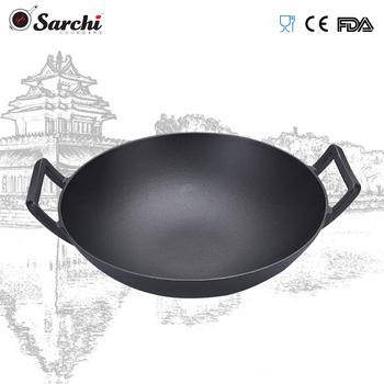 Dapur Peralatan Masak Besi Cor Chinese Wok