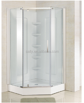Pivot Door Neo Angle Tempered Glass Shower Enclosure Diamond Shower Door