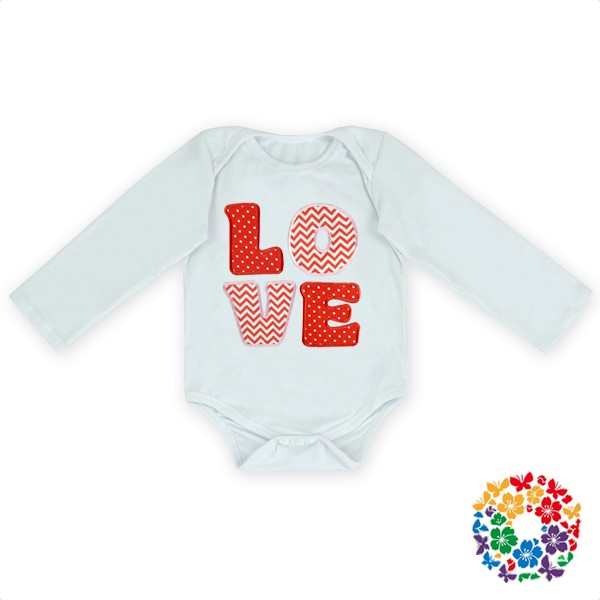 2016 Newest Newborn Baby Cotton First Valentines Day Girls Outfit Clothes White Color Long Sleeve Baby Jumpsuit Wholesale Romper