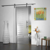 Frameless sliding glass shower door track barn shower door hardware