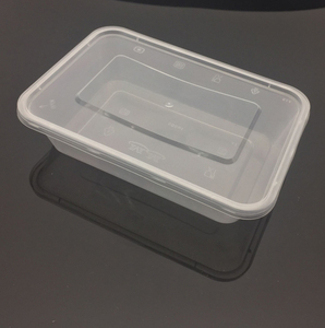 500ml Rectangular Shape Plastic disposable food containers