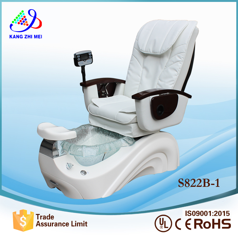 2018 snow white nail spa chair for salon spa furniture and spa pedicure chair S822B-1