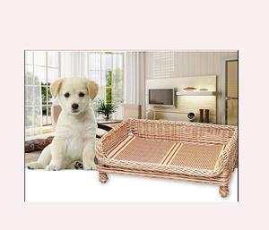 Hot new product custom pet house fashioned rattan dog bed