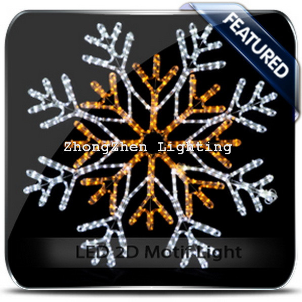 Led 2d Motif Snowflakes Icicle Light Christmas Outdoor Decoration ...