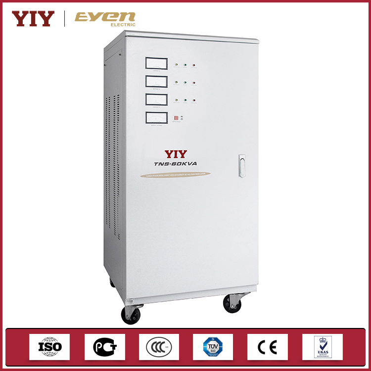 YIY China Power Supplies OEM ODM 60KVA Servo Voltage Stabilizer For Home