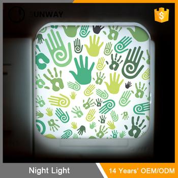 0.5w Plug In Led Custom Night Light Lamp With Smart Sensor Soft ...