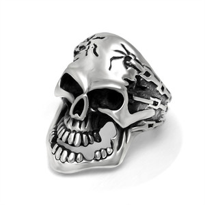 Geometrical Skull Head Shape Silver Jewelry Fashion Rings Stainless Steel For Wedding Rings SA862