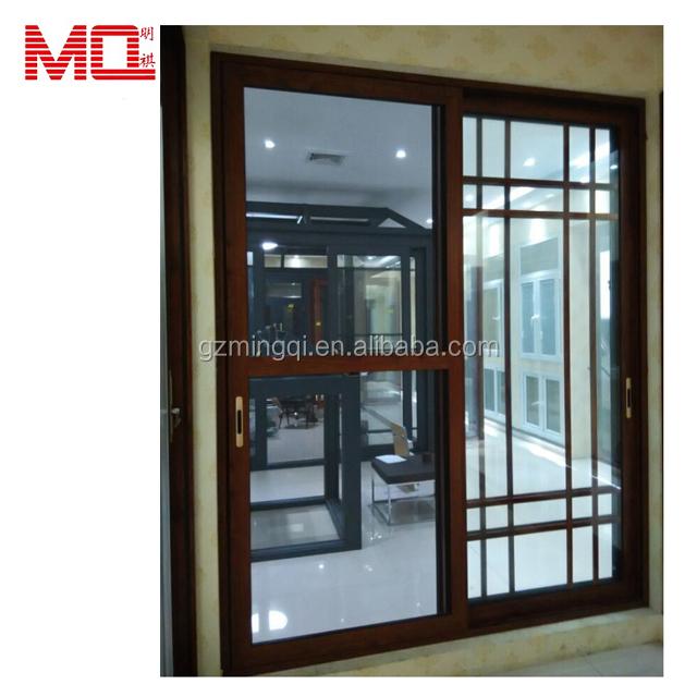 Grills Inside Sliding Glass Aluminium Doors And Windows Designs Aluminum
