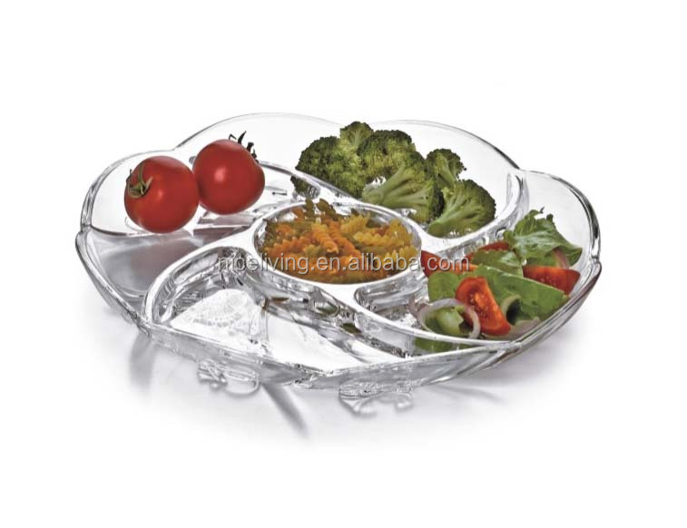 Wholesale High Transparent Plastic Divided Snack <strong>Plate</strong>