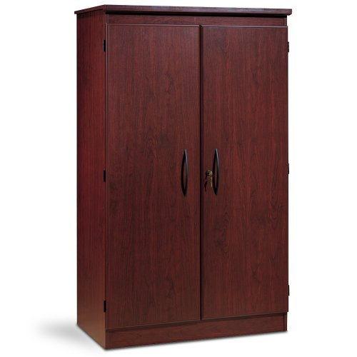 South Shore Tall 2-Door Storage Cabinet with Adjustable Shelves, Royal Cherry