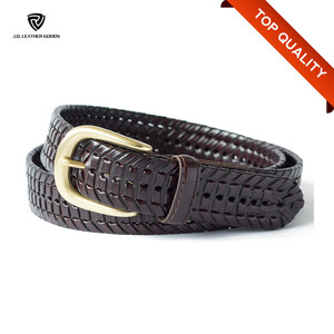 Handmade Men Braided Leather Belt/Bonded Leather Belts Imported in Germany