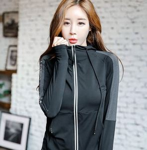 Casual Light Weight Quick Dry Zip-Up Womens Gym Wear