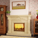 decorative natural beige marble fireplace surround,marble stone fireplace