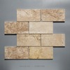 regular pattern and yellow color natural stone marble mosaic